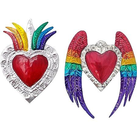 Textile sacred heart jewelry exvoto