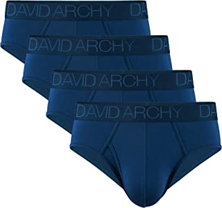 Men's Underwear Bamboo Rayon Breathable Ultra Soft Comfort Lightweight Pouch Briefs in 4 Pack