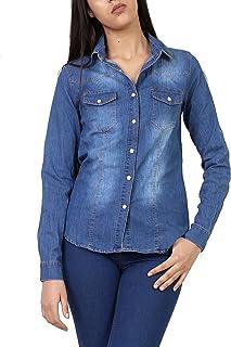 90c4a4ab2c2d Amazon.es: Camisas De Jeans Mujer
