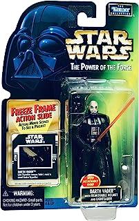 Star Wars POTF2 Power of the Force Freeze Frame Darth Vader w/Removable Helmet and Lightsaber