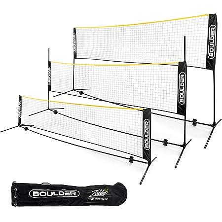 Happt Badmintonnetz Einfach Einzurichtende Volleyballnetz F/ür Tennis Pickleball Training Indoor Outdoor Sport