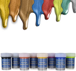individuall Premium Metallic Paints Professional Grade Metallic Paint Set – Acrylic Hobby Paints Made in Germany – Craft Paint Set with 8 Vivid Colors – Great for Beginners, Students, Artists