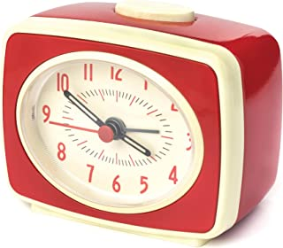 Kikkerland AC14-RD Classic Alarm Clock, Red
