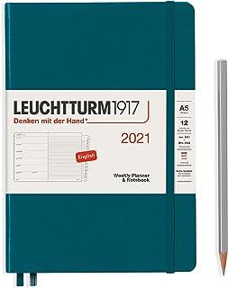 ロイヒトトゥルム 手帳 2021年 1月始まり A5 ウィークリー パシフィックグリーン 361851