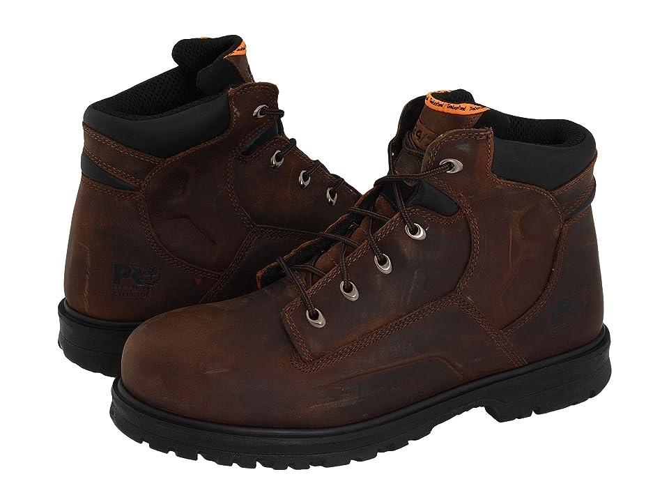 Timberland PRO Magnus 6 Steel Toe (Brown Oiled Nubuck Leather) Men
