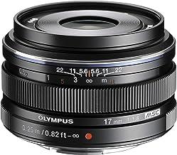 Olympus M.Zuiko - Objetivo Digital 17 mm F1.8, longitud focal fija rápida, apto para todas las cámaras MFT (modelos Olympus OM-D & Pen, Serie G de Panasonic), negro