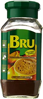 Bru Instant Coffee and Roasted Chicory, 7 Ounce