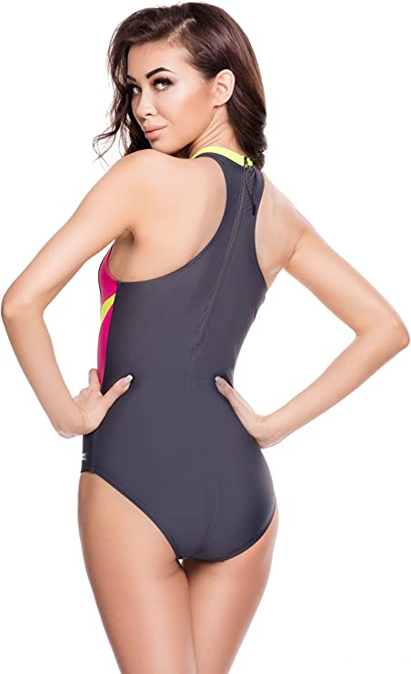Badeanzug Damen Schwimmanzug einteiliger SONIA Aqua-Speed 36-44
