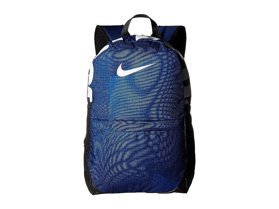 Nike Kids Brasilia Printed Backpack (Little Kids/Big Kids) (Blue Void/Black/White) Backpack Bags