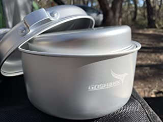 Camp Aluminum Ultralight Camping Cookware for Outdoor Hiking Backpacking