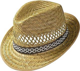 Erntehelfer Strohhut (Sonnenschutz) Damen und Herren |Sonnenhut im Trilby-Look | Hut aus Stroh für den Sommer am Strand oder im Urlaub | verschiedene Größen | Farbe Natur