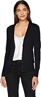 Women's Classic Fit Lightweight Long-Sleeve Vee Cardigan...