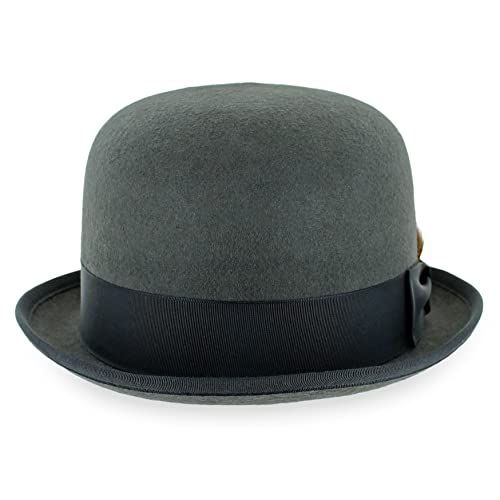 56dc1942e5dc8 Belfry Stingy Brim Bowler 100% Wool Felt Men s Derby Hat Made in The USA in