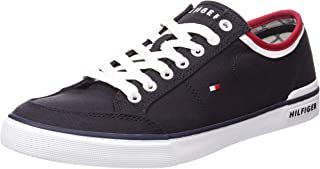 TOMMY HILFIGER Men's Cotton Logo Trainers Cotton Logo Trainers