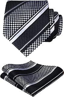 Extra Long Polka Dots Tie Handkerchief Men's Necktie & Pocket Square Set