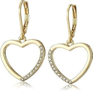 Essentials Heart Charm Drop Earrings