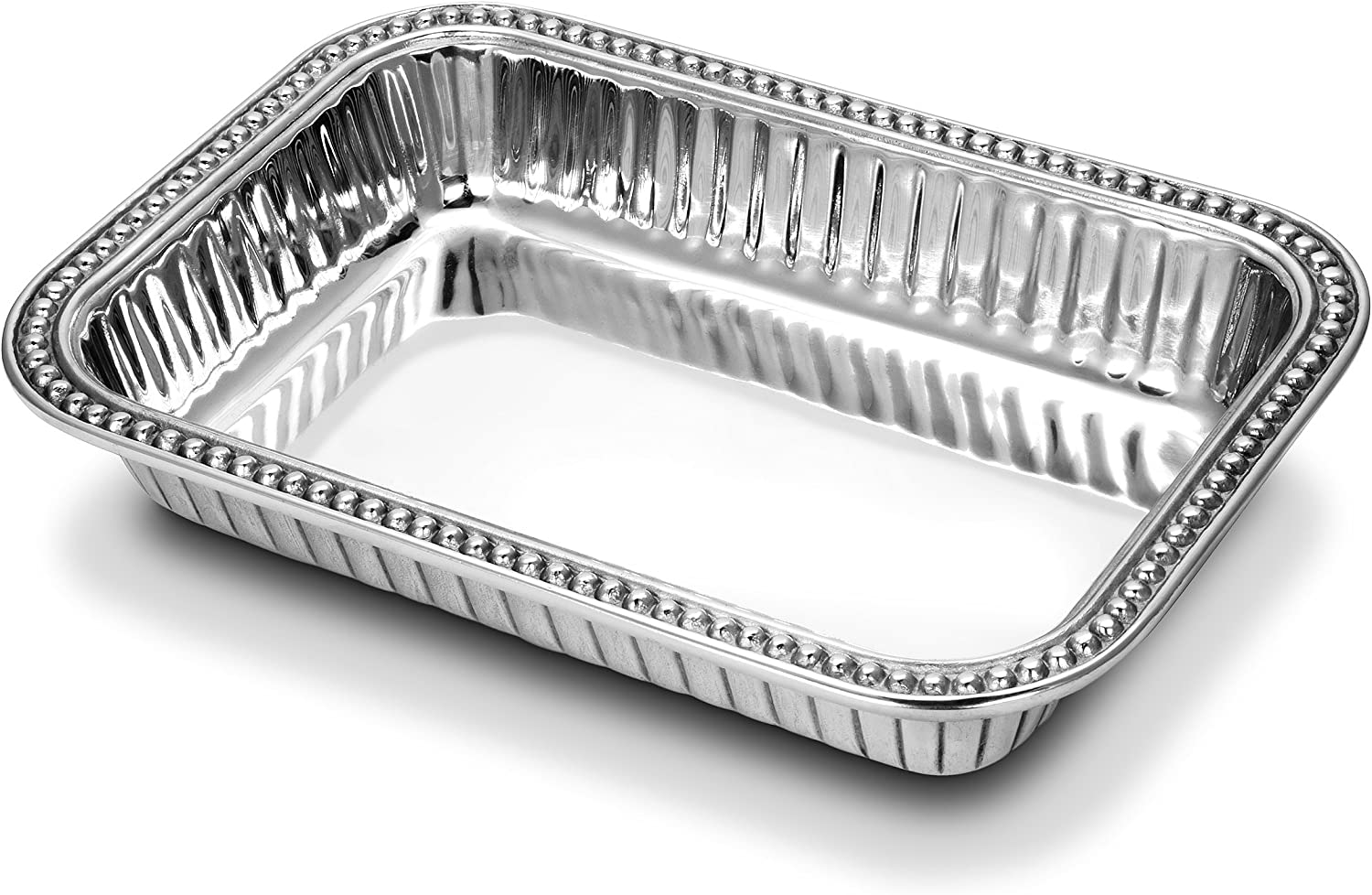 Wilton Armetale Flutes and Pearls Rectangular Baking Dish, 9-Inch-by-13-Inch