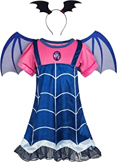Wenge Girls Vampirina Costume Outfit Halloween Dress Up Toddler Kids Party Dresses