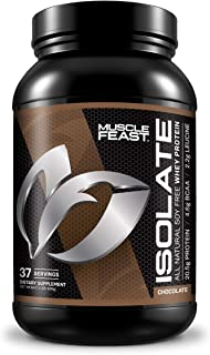 Pure Whey Protein Isolate Powder by Muscle Feast | All Natural and Kosher Certified (2lb, Chocolate)
