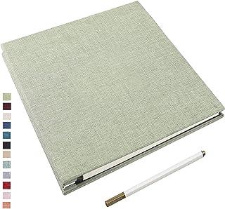 Yopih Album Photo Adhésif avec 40 Pages 10X15 Lin en Tissu Couverture Scrapbooking DIY Magnétique Photo Album Sauver Bébé ...