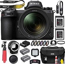 Nikon Z6 Mirrorless Digital Camera with 24-70mm Lens (1598) with Nikon FTZ Lens Adapter, Nikon Bag, MC-DC2 Remote, 2 Sony ...