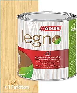 ADLER Legno Öl - Universelles Holzöl farblos für Laub- und Nadelhölzer im Innenbereich - Holzschutz & Pflege mit Holzpflegeöl für Möbel, Innenausbau & Holzböden - Farblos 750ml