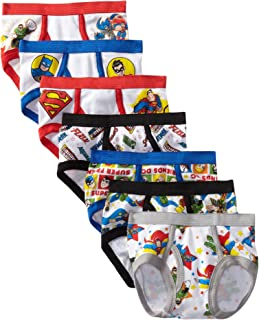 DC Comics Handcraft Little Boys' DC Super Friends  Brief (Pack of 7), Assorted, 2T/3T