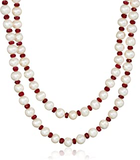 Genuine Round Pearl Silver Pendant With Adjustable-length Silver Chain 8.3MM Best Gift to Her June Birthstone
