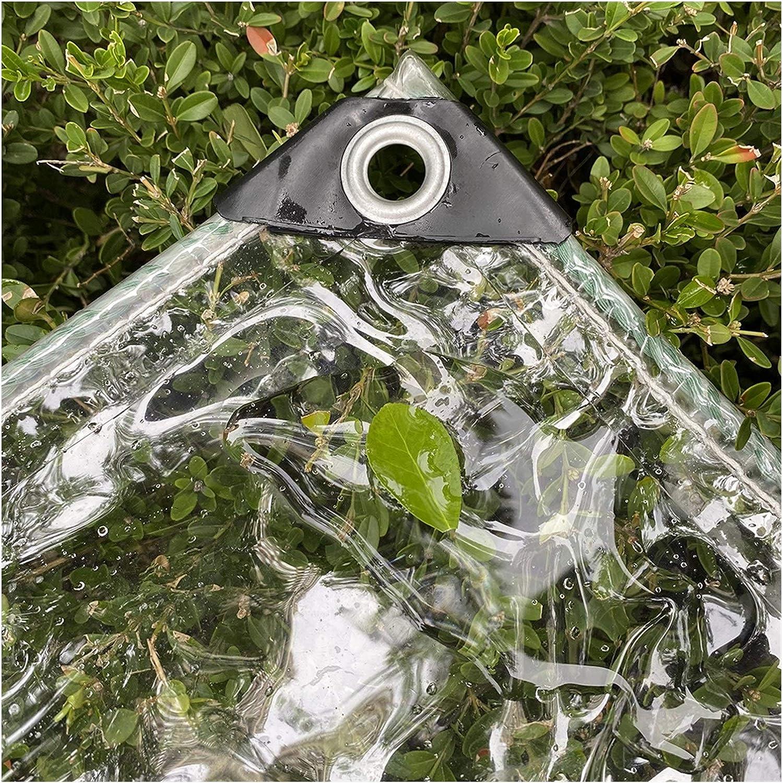 LSXIAO Transparent Tarp Fort Worth Mall 0.3mm Tarpaulin Thickness Waterpro Max 48% OFF PVC