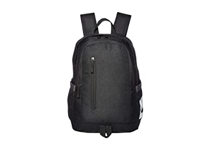 Nike All Access Soleday Backpack 2 (Black/Black/White) Backpack Bags