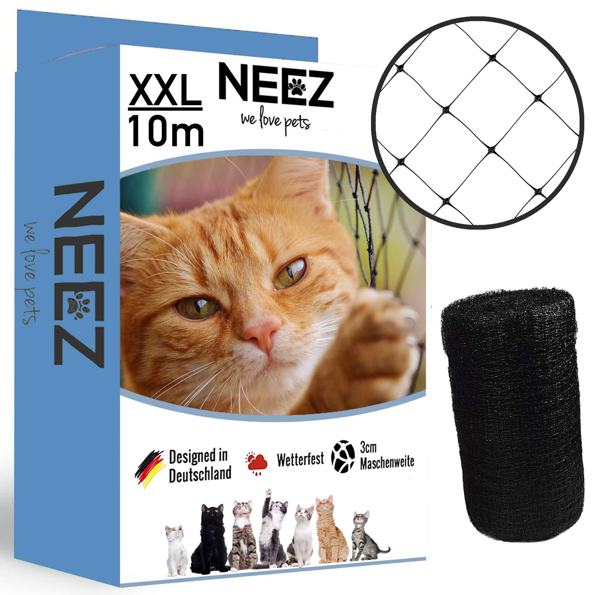 NEEZ XL red para gatos para balcones y ventanas I Red de seguridad robusta incl. kit