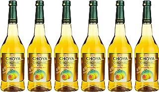Choya Original japanischer Pflaumenwein Weinhaltiges Getränk, Ume Frucht, fruchtig, süß, 10% vol. 6er Pack 6 x 0,75 l