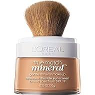L'Oréal Paris Makeup True Match Loose Powder Mineral Foundation, Natural Beige, 0.35 oz.