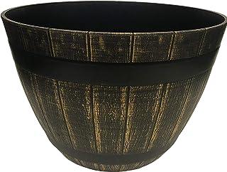 Whiskey Barrel planter with holes Outdoor garden decor