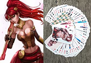 FlonzGift Sexy Girls Anime Playing Cards (Poker Deck 54 Cards All Different) Swimsuit Sexy Girls Japan Manga Anime