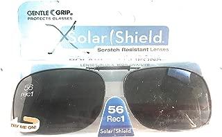 3 Solar Shield Clip-on Polarized Sunglasses Size 56 rec 1 Black Full Frame New