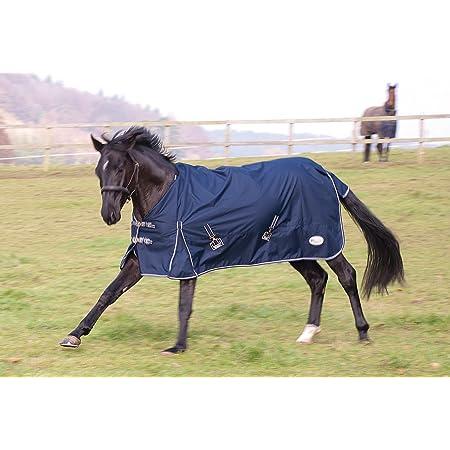 Fitness Freak Horse Rugs Extender 600D Raincoat Rug Raincoat Strong Chest Pony Waterproof Rainsheet Outdoor Winter Expander Lightweight Turnout Triplex Navy One Size
