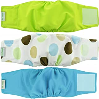 IN HAND Washable Male Dog Diapers(Pack of 3), Premium Reusable Belly Bands for Male Dogs, Durable Male Dog Belly Wrap, Comfy Doggie Diapers
