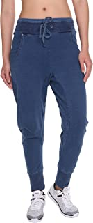 Women's Jogger Pants Casual Cotton Harem Jean for High Waist Drawstring Trousers