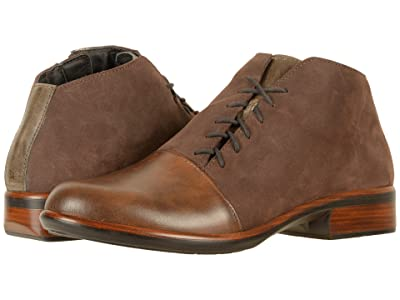 Naot Camden (Pecan Brown Leather/Coffee Bean Nubuck/Vintage Fog Leather) Women