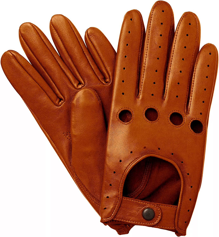 Sheepskin Chauffeur Driving Gloves - Tan