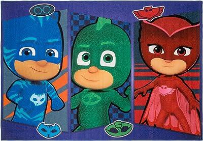 Gertmenian PJ Masks Rug Patch Kids Bedding Playmat Carpet, 5x7 Large, Navy Blue