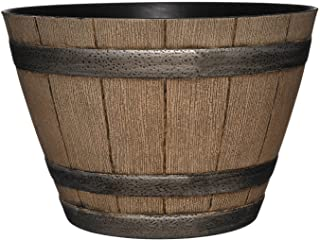 "Classic Home and Garden 15"" Whiskey Barrel, 15"", Distressed Oak"