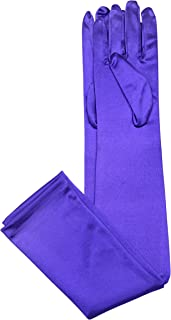 Elegant Stretch Satin Long Fabric Gloves