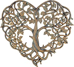 "Old River Outdoors Tree of Life/Heart Wall Plaque 12"" Decorative Art Sculpture.."