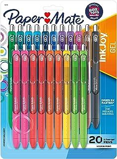 Paper Mate Gel Pens | InkJoy Pens, Medium Point, Assorted, 20 Count