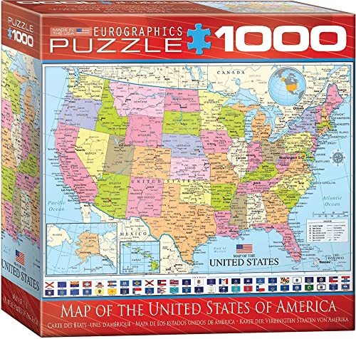 "Eurographics Puzzle  p of The USA"", 8000-0788 (1000 ile)"