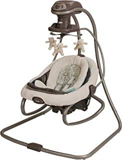 Graco DuetSoothe Baby Swing and Rocker, Winslet Light Beige/Light Green