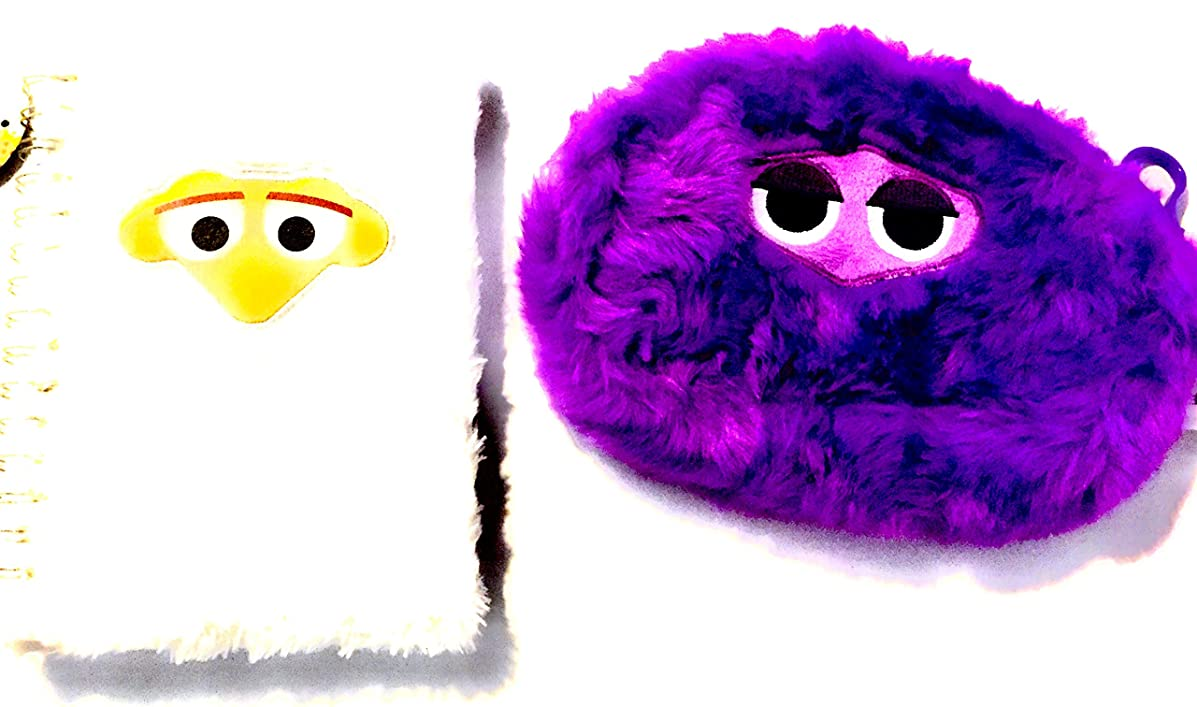 Bundle of Two - Fluffles, Purple Pencil Pouch and White Notebook