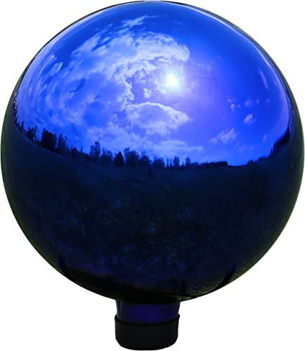 wholesale Sunnydaze Garden Gazing Globe Ball, Outdoor Lawn and Yard Glass Ornament, online sale Reflective high quality Blue Mirrored Surface, 10-Inch outlet sale